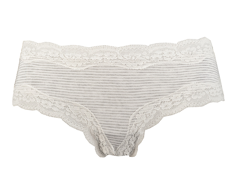 francia fazonú női alsó szürke csíkos slip Calista