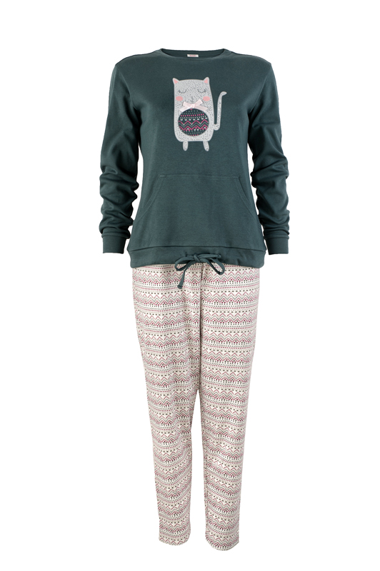 női pizsama - Rosella zöld felsős
