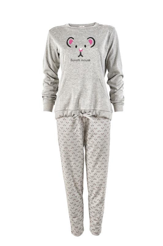 női pizsama - Rosella szürke