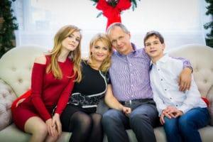 Dauner Katalin és családja