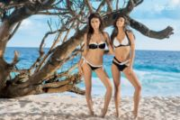 Női fürdőruha Bonatti fekete-fehér bikini