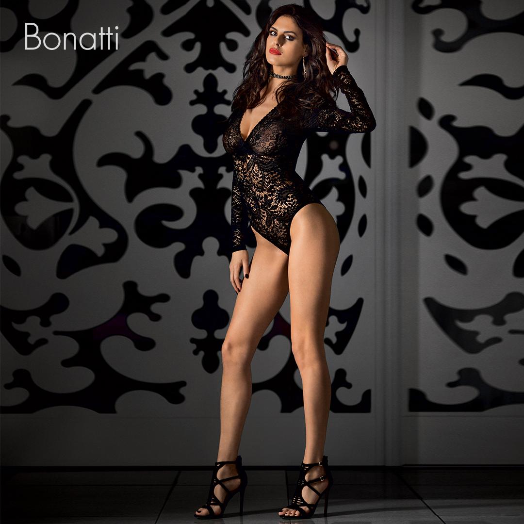 Csipkés fehérnemű - fekete body - Bonatti női da9d13f5ed