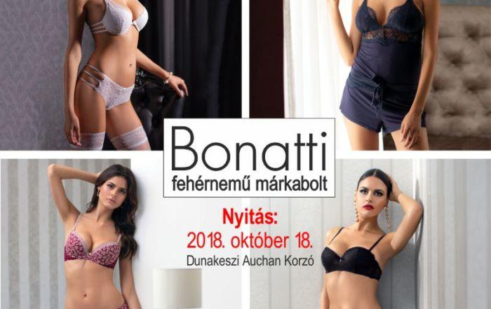Hamarosan megnyílik a 2. Bonatti márkaboltunk