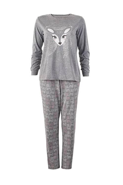 női pizsama KELLY szürke