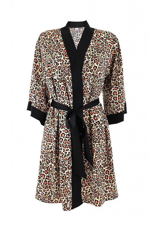 Bonatti fehérnemű - BELEN J-21 női köntös leopárd mintás 1
