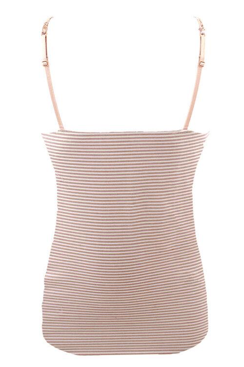 LULU J-20 női trikó tört fehér/púder rózsaszín csíkos hátulja