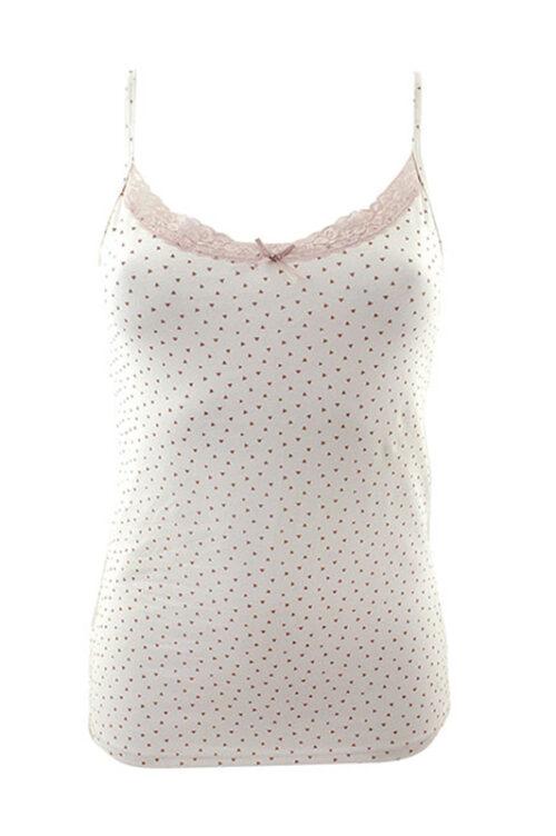 FLORENTINA J-20 női trikó tört fehér/háromszög minta