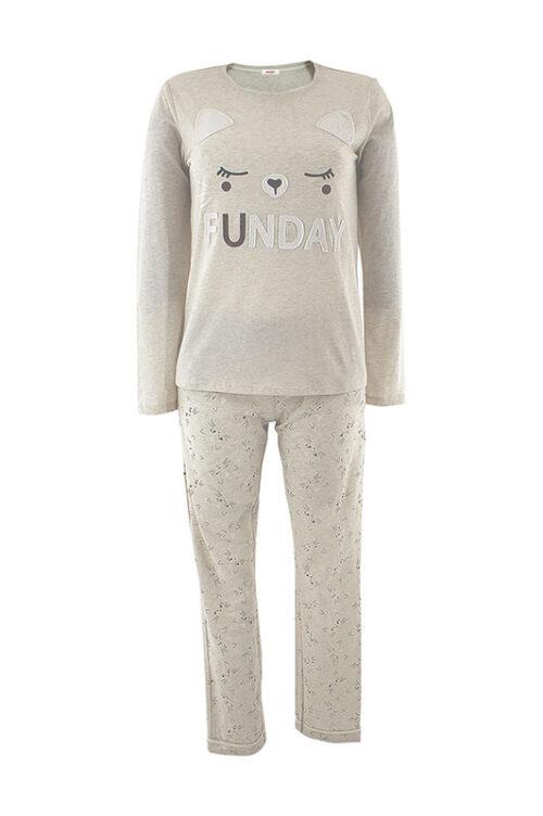 JULIA J-20 női pizsama bézs