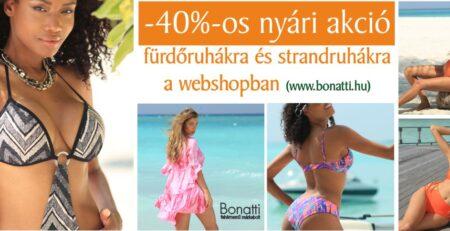 -40%-os nyári akció a Bonatti webshopban is!